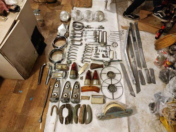 ГАЗ 21, хром, подфарники, стекла, ручки, ободок, молдинг, усы