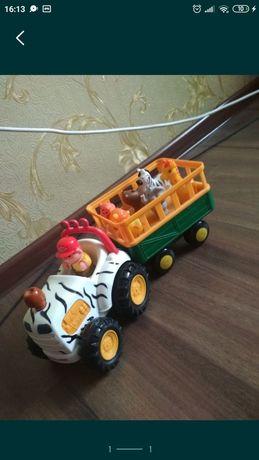 Ноев ковчег трактор Киддиленд , развивающий трактор из зверюшками