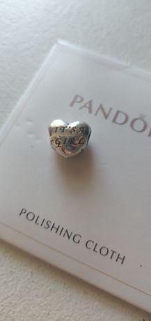 Charms do bransoletek Pandora dziecko dziewczyna its a girl narodziny