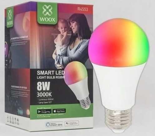 WOOX kolorowa żarówka SMART Wi-Fi LED R4553 8W