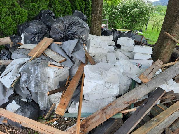 Styropian odpady z elewacji