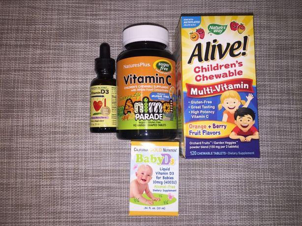 вітаміни для дітей D3, вітамін С