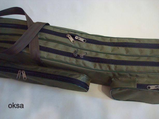 Чехол сумка для удочек, удилищ 130 см, 120 см OKSA (бюджетный)