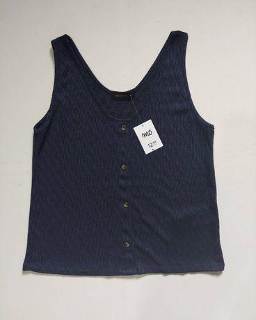 Camisola de alças azul