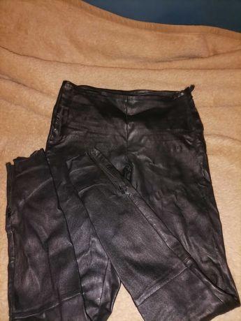 Spodnie Skóra naturalna Róż M Stan idealny