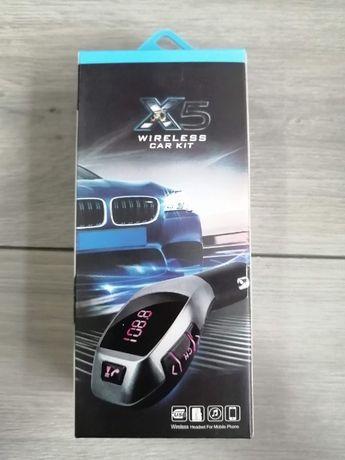 Transmiter FM z Bluetooth, ładowarka USB , micro SD