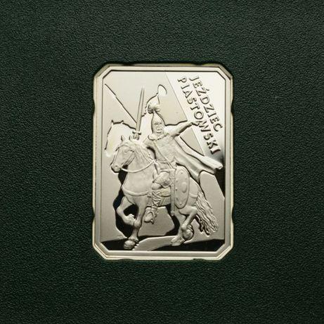 Moneta kolekcjonerska 10zł Historia Jazdy Polskiej Jeździec piastowski