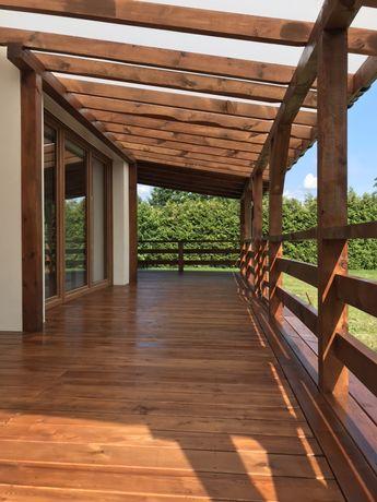 Drewniany garaż , wiata samochodowa, zadaszenie drewniane,taras