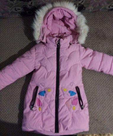 куртка детская для девочки зима 4-5 лет