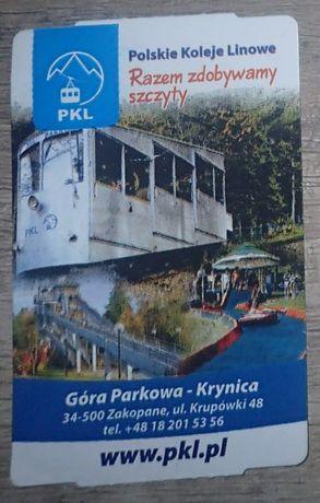 Bilet kolekcjonerski: PKL Góra Parkowa - Krynica