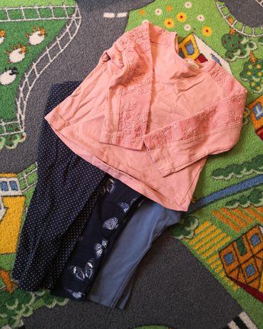 Zestaw bluzka leginsy legi Zara H&M C&A 74 80