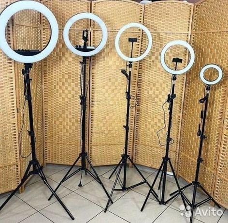 Кольцевая лампа 26,33,36,39,45 + штатив 2.1 м|LED лампа|RGB