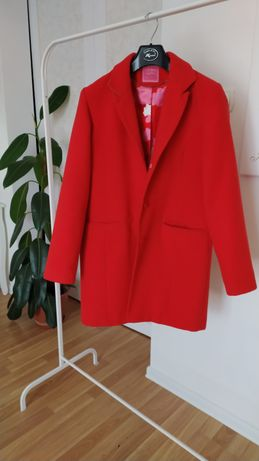 Elegancki prosty płaszcz zimowy
