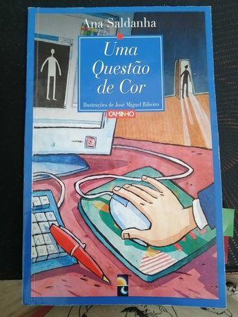 """Livro  """"Uma Questão de Cor"""" de Ana Saldanha"""""""