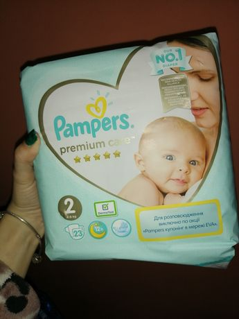 Подгузники Pampers premium care
