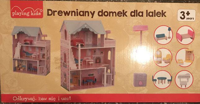 Nowy duży drewniany domek dla lalek