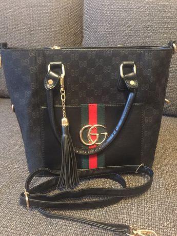 Nowa czarna torebka GG premium