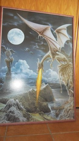 Poster de Dragão emoldurado e com vidro