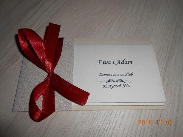 Zaproszenie zaproszenia ślubne personalizacja wiele kolorów czerwień