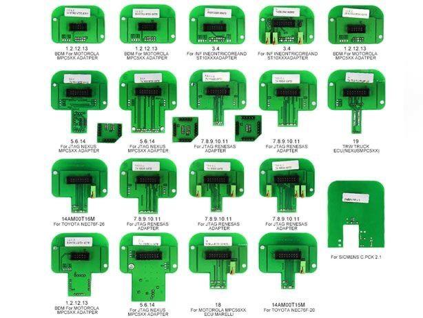 KIT 22 adaptadores BDM programação centralinas KTAG / KTM kess v2
