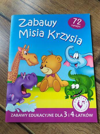 Książka z naklejkami, zabawy edukacyjne dla 3 i 4 latka