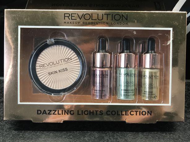Makeup Revolution Zestaw Rozświetlaczy Dazzling Lights Collection