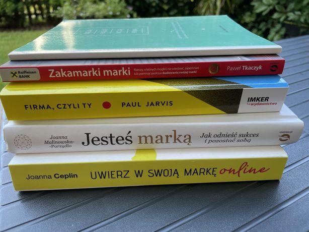 Książki biznesowe zestaw o budowaniu marki