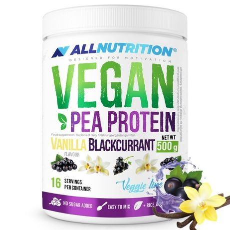 !Okazja Białko W Proszku Vegan Protein Vanilla&Blackcurrant 500g