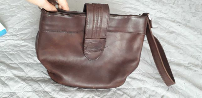 Skórzana torebka damska brązowa