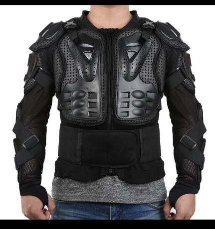 Proteção torax, costas e braços - armadura corporal tamanho XXL  Cintu