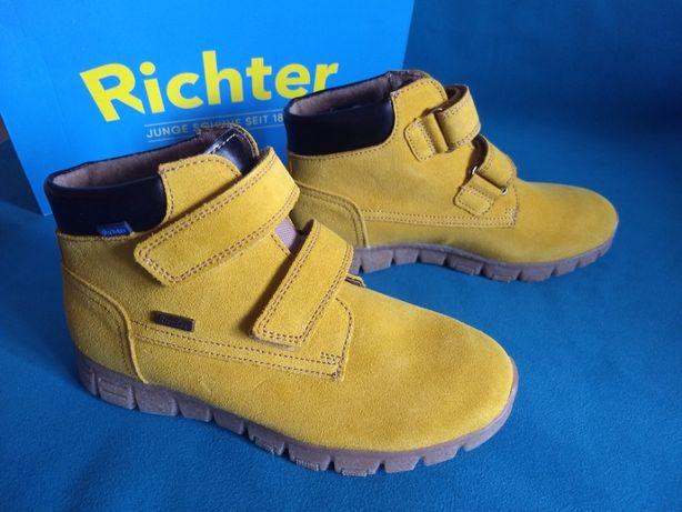 Зимние непромокаемые ботинки на липучках Richter, 33 размер