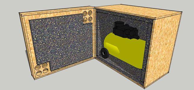 Caixa silenciosa para compressor de ar