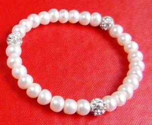 Bransoletka perły kulki