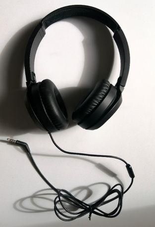 Nowe, czarne słuchawki Philips TAH 4105BK/00 nauszne, przewodowe