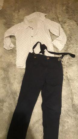 Koszula plus spodnie na szelkach