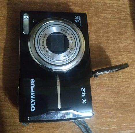 Фотоаппарат Olympus x-42 переходник xD карт microSD в подарок дешево.