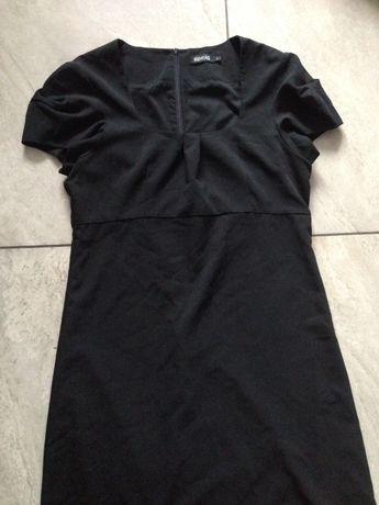 Sukienka czarna ozdobny rękawek L zara Monari