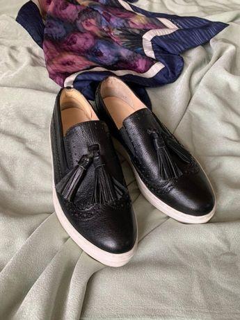 Женские кожаные слипоны Kate Gray р. 38 туфли лоферы