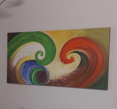Tela pintada a mão 80x160