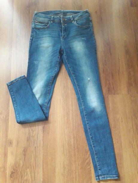 jeansy rurki skinny z przetarciami 36 S C&A yessica
