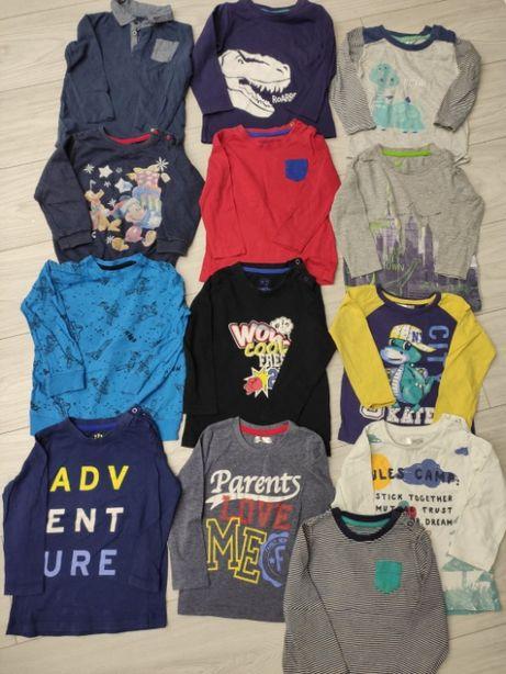 Zestaw ubranek chłopięcych rozmiar 86 spodnie, bluzy, 46 elementów
