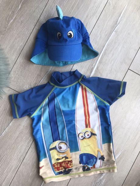 Футболка для плавания купания кепка акула для моря Next George 2 3 4