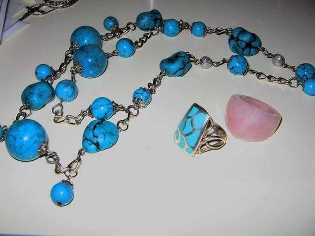 Ожерелье из натуральной бирюзы. Испания.