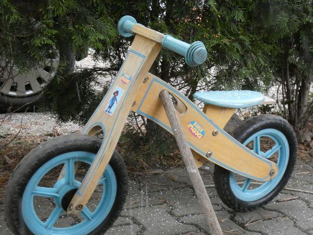 Biegowy rowerek drewniany