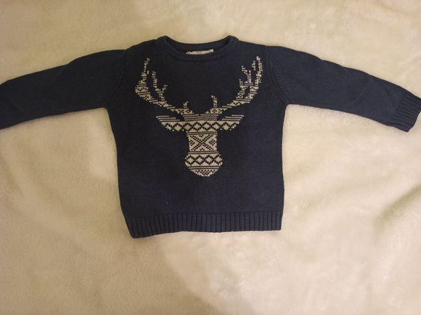 Sweterek Zara granatowy
