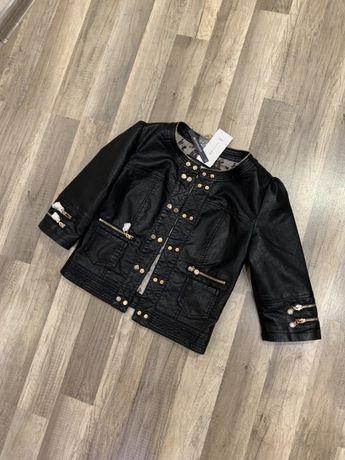 Куртка косуха черная новая кардиган пиджак жакет курточка