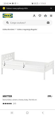 Łóżko ikea kritter białe