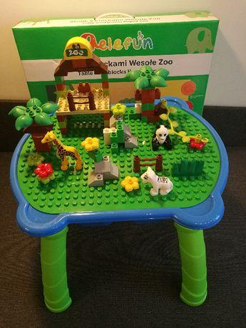 Stolik dla dzieci z klockami wesołe zoo 84 klocki zwierzątka Elefun