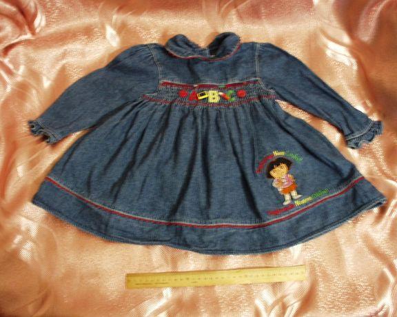 Платье дет NICK джинсовое на 1 год шикарное девочке