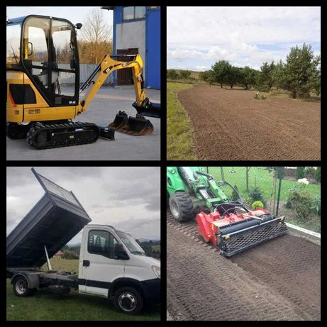 Usługi Ogrodnicze Glebogryzarka Separacyjna Minikoparka Trawnik